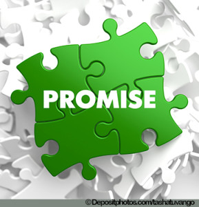 Promise Word on Green Puzzle.